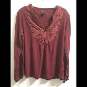 Luck Brand Henley Shirt sz XL